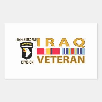 Iraq Veteran Rectangular Sticker