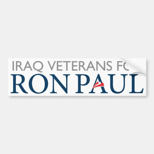 Iraq Veterans For Ron Paul Bumper Sticker