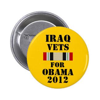 Iraq Vets for Obama 2012 6 Cm Round Badge