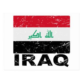 Iraq Vintage Flag Postcard