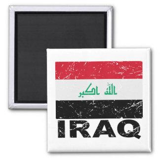 Iraq Vintage Flag Square Magnet
