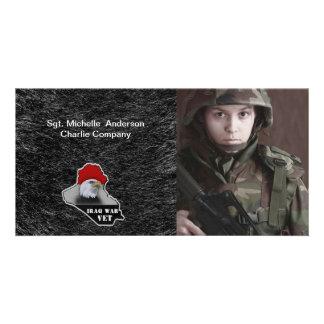 Iraq War Military Veteran Custom Photo Card