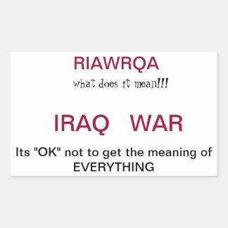 Iraq War Rectangular Sticker