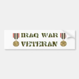 Iraq War Vet Bumper Sticker