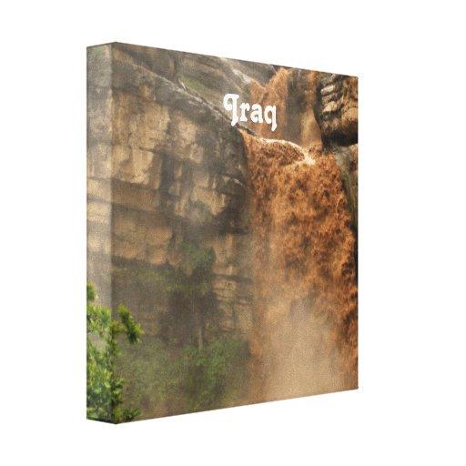 Iraq Waterfall Stretched Canvas Prints