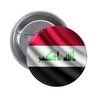 Iraq waving flag pinback button