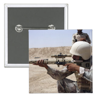 Iraqi Army Sergeant sights in down range 2 15 Cm Square Badge
