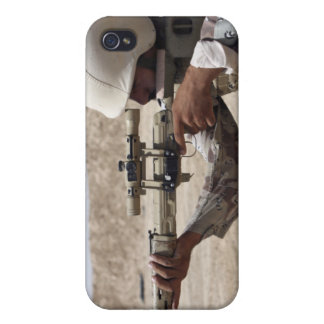 Iraqi Army Sergeant sights in down range 2 Case For iPhone 4