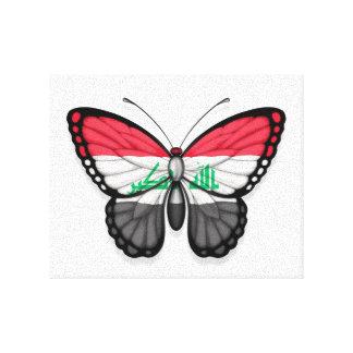 Iraqi Butterfly Flag Canvas Print
