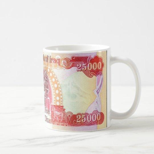 Iraqi Dinar 25,000 Coffee Mug - Iraq Tea