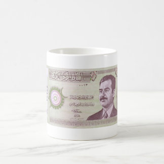 Iraqi Dinar with Saddam Hussein Coffee Mug