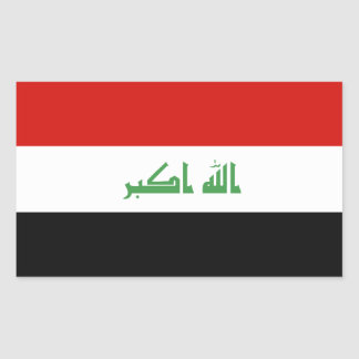 Iraqi Flag Rectangular Sticker