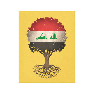 Iraqi Flag Tree of Life Customizable Stretched Canvas Prints