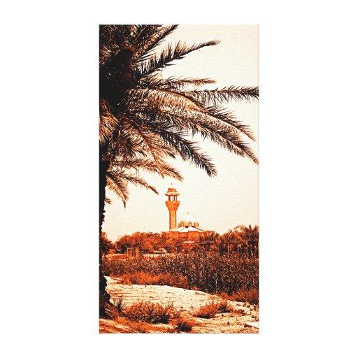 Iraqi Palm Stretched Canvas Print