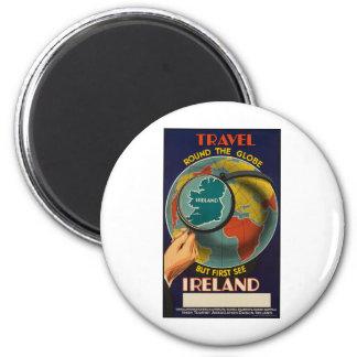 Ireland 6 Cm Round Magnet