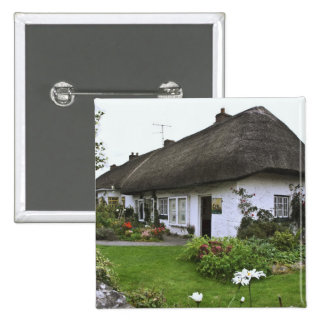 Ireland, Adare. Thatched-roof cottage 15 Cm Square Badge
