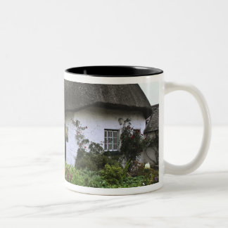 Ireland, Adare. Thatched-roof cottage Two-Tone Coffee Mug