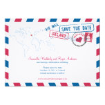 Ireland Air Mail Wedding Save The Date 13 Cm X 18 Cm Invitation Card