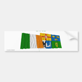 Ireland and Four-Province Waving Flags Car Bumper Sticker