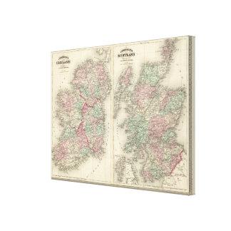 Ireland and Scotland Canvas Print