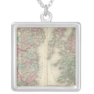 Ireland and Scotland Silver Plated Necklace