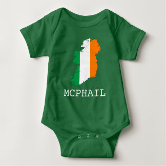 Ireland and Surname Baby Bodysuit