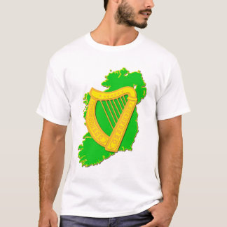 Ireland and the Irish Harp T-Shirt
