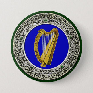Ireland Arms 7.5 Cm Round Badge