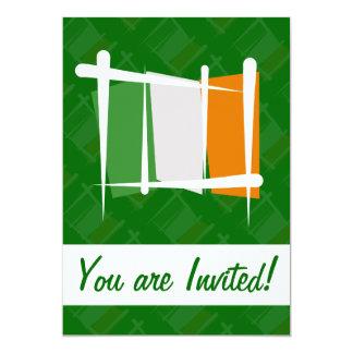 Ireland Brush Flag 13 Cm X 18 Cm Invitation Card