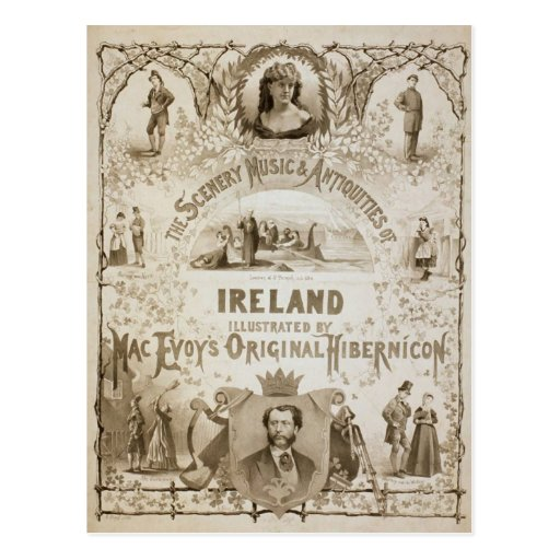 Ireland, by 'Mac Evoy's Original Hibernicon' Post Card