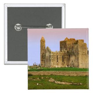 Ireland, Cashel. Ruins of the Rock of Cashel 15 Cm Square Badge