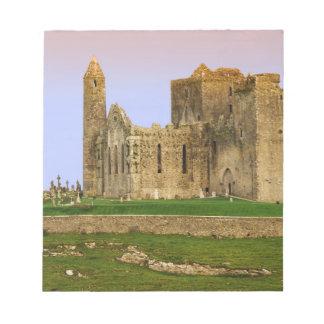 Ireland, Cashel. Ruins of the Rock of Cashel Notepad