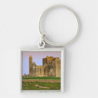 Ireland, Cashel. Ruins of the Rock of Cashel Silver-Colored Square Key Ring