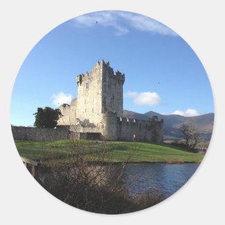 Ireland Castle Round Sticker