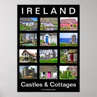 IRELAND Castles & Cottages Poster