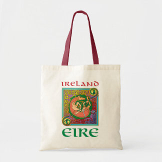 Ireland Celtic Motif Tote Budget Tote Bag