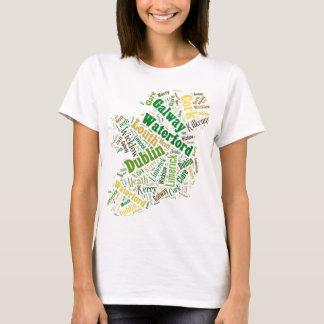 Ireland Cities Word Art T-Shirt