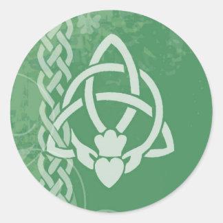 Ireland Claddagh Round Sticker