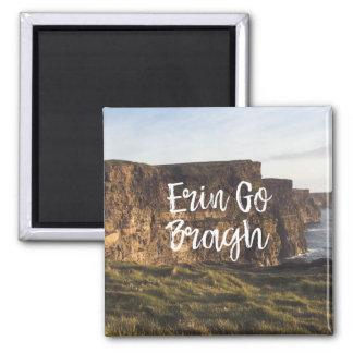 Ireland Cliffs Erin Go Bragh Magnet