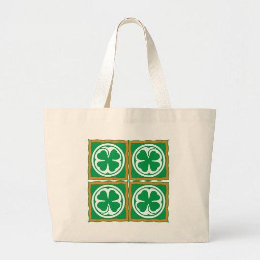 Ireland clover sheet Eire Irish country shame skir Tote Bags