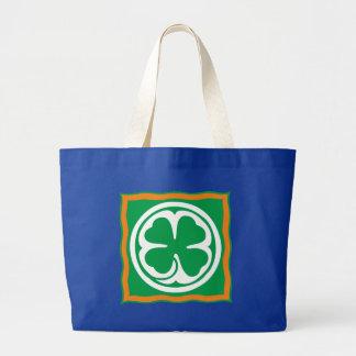 Ireland clover sheet Eire Irish country shame skir Canvas Bags