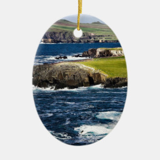 Ireland coast christmas ornament