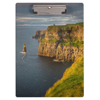 Ireland coastline at sunset clipboard