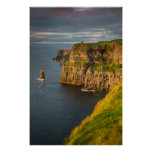 Ireland coastline at sunset poster