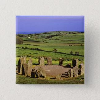 Ireland, County Cork. The Dromberg Stone 15 Cm Square Badge
