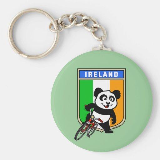 Ireland Cycling Panda Key Chain