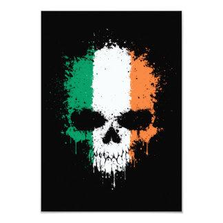 Ireland Dripping Splatter Skull Invitations