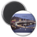 Ireland Dublin Bridge night (St.K) 6 Cm Round Magnet