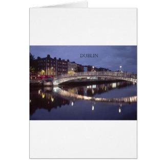 Ireland Dublin Bridge night (St.K) Greeting Card