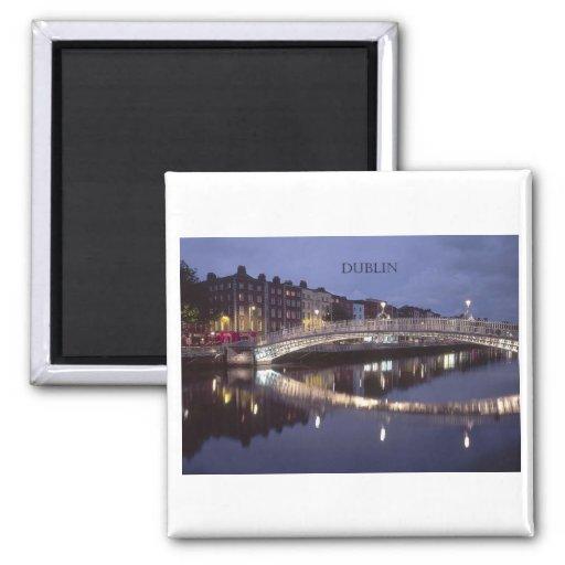 Ireland Dublin Bridge night (St.K) Magnets